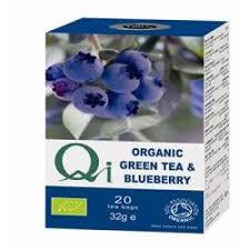Organic Green Tea & Blueberry 20 bags - Green Food Direct