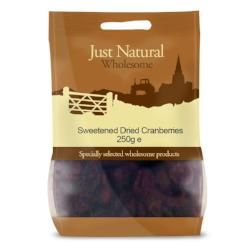 Sweetened Dried Cranberries 250 g - Green Food Direct