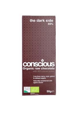 The Dark Side 85% organic chocolate bar 50 g - Green Food Direct