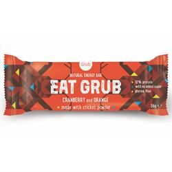 OFF Eat Grub Cranberry and Orange Bar 36g - Green Food Direct