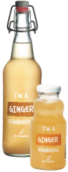 Kombucha Organic Ginger & Lime, Kombucha Love - Green Food Direct