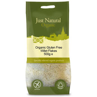 Organic Gluten Free Millet Flakes 500g - Green Food Direct