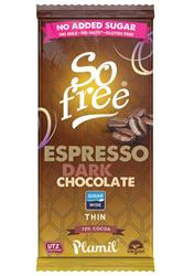 So Free No Added Sugar Dark Espresso Thin Chocolate 80g - Green Food Direct