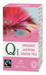 Organic Fair Trade Jasmine Tea 25 Bags (50g) - Green Food Direct
