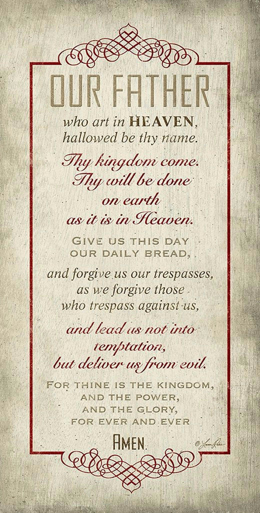 "The Lords Prayer Inspirational 16""x 8"" Christian Wood Plaque"