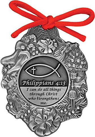 Philippians 4:13 I Can Do All Things Through Christ Christmas Ornament