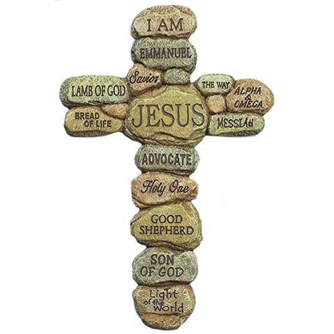Names of Jesus Wall Cross Inspirational Christian 10 Inch Crucifix