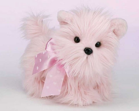 Bearington Bears Beggin' for Love Pink Puppy Dog