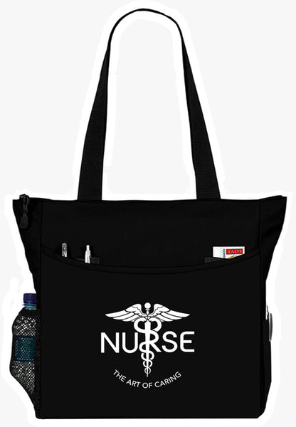 Nurse The Art Of Caring Caduceus Tote Bag Handbag Personal Organizer - The Nurse Place - 2