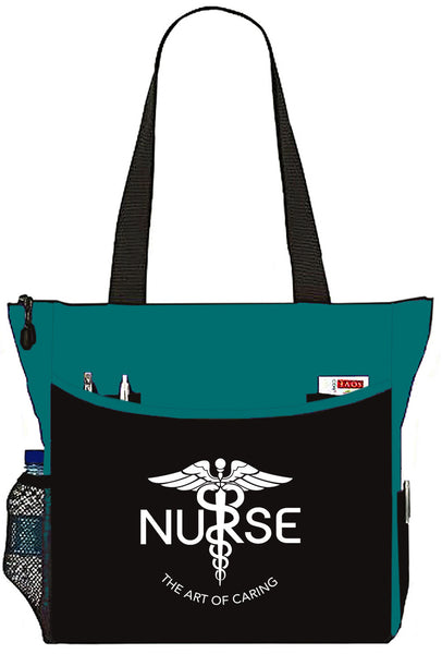 Nurse The Art Of Caring Caduceus Tote Bag Handbag Personal Organizer - The Nurse Place - 4