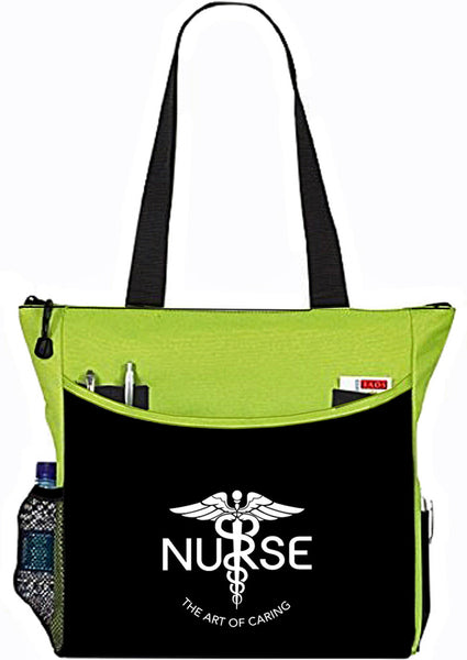 Nurse The Art Of Caring Caduceus Tote Bag Handbag Personal Organizer - The Nurse Place - 7