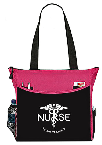 Nurse The Art Of Caring Caduceus Tote Bag Handbag Personal Organizer - The Nurse Place - 3