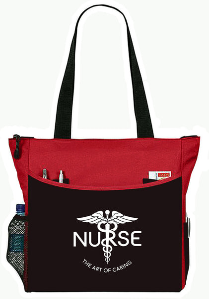 Nurse The Art Of Caring Caduceus Tote Bag Handbag Personal Organizer - The Nurse Place - 5