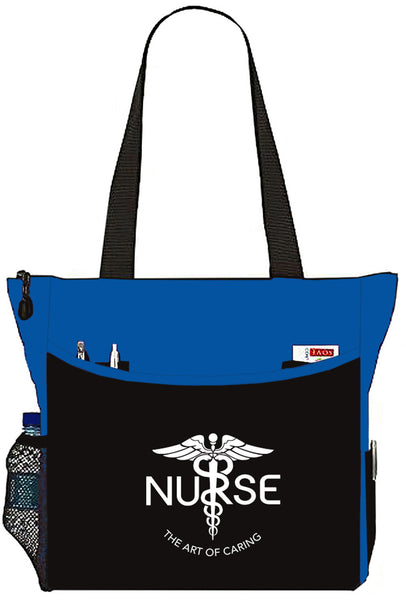 Nurse The Art Of Caring Caduceus Tote Bag Handbag Personal Organizer - The Nurse Place - 6