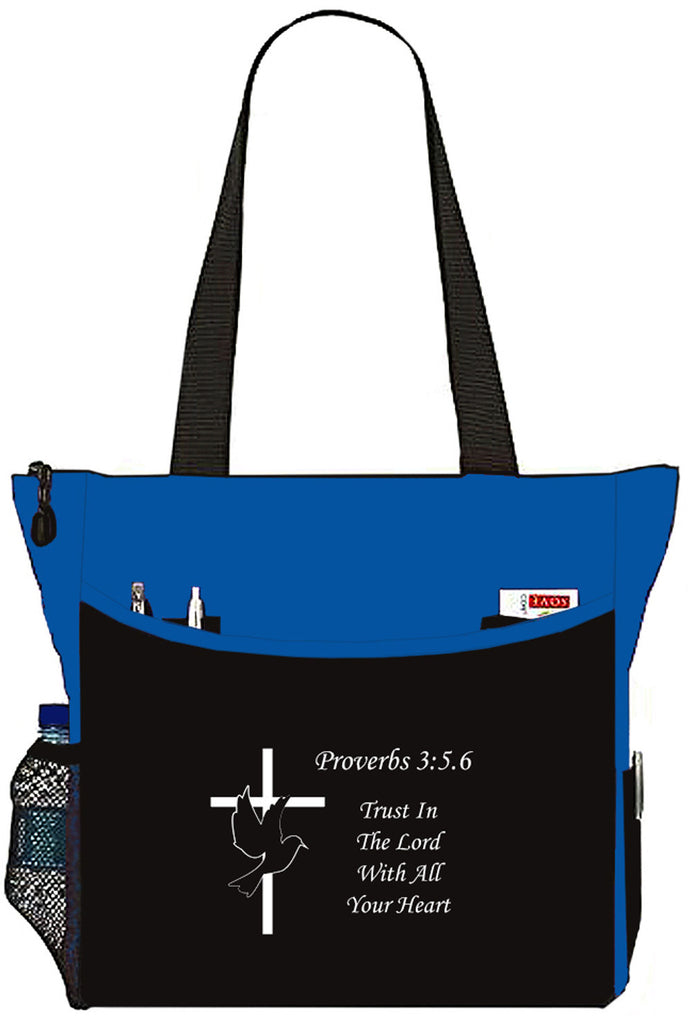 Proverbs 3:5:.6 Trust In The Lord Christian Bible Cover Tote Bag - The Nurse Place - 3