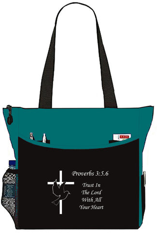 Proverbs 3:5:.6 Trust In The Lord Christian Bible Cover Tote Bag - The Nurse Place - 1