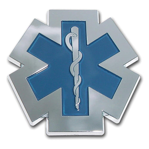 EMS EMT Star of Life Chrome Plated Paramedic Emblem Car Truck Motorcycle Logo - The Nurse Place