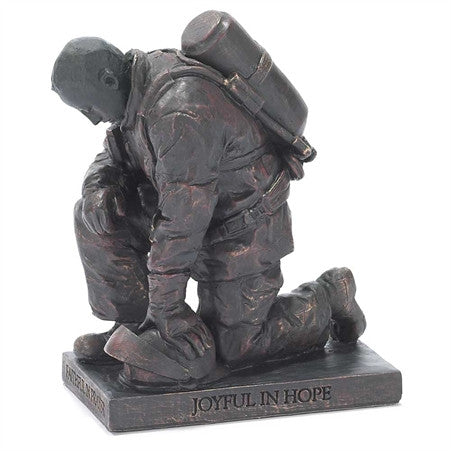 Firefighter Called to Pray Christian Figurine