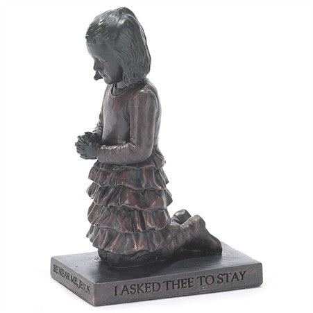 Girl Called to Pray Christian Figurine