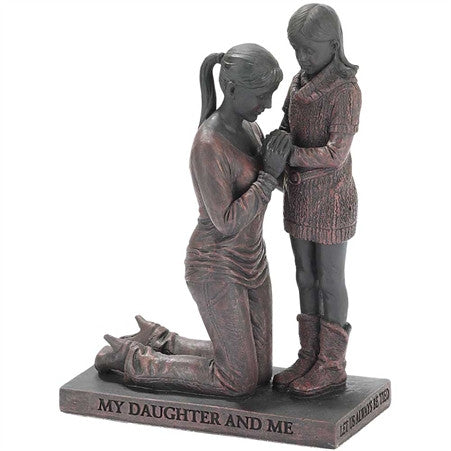 Mother & Daughter Called to Pray Christian Figurine