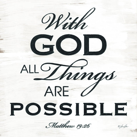 Matthew 19:26 With God All Things Are Possible Christian Plaque