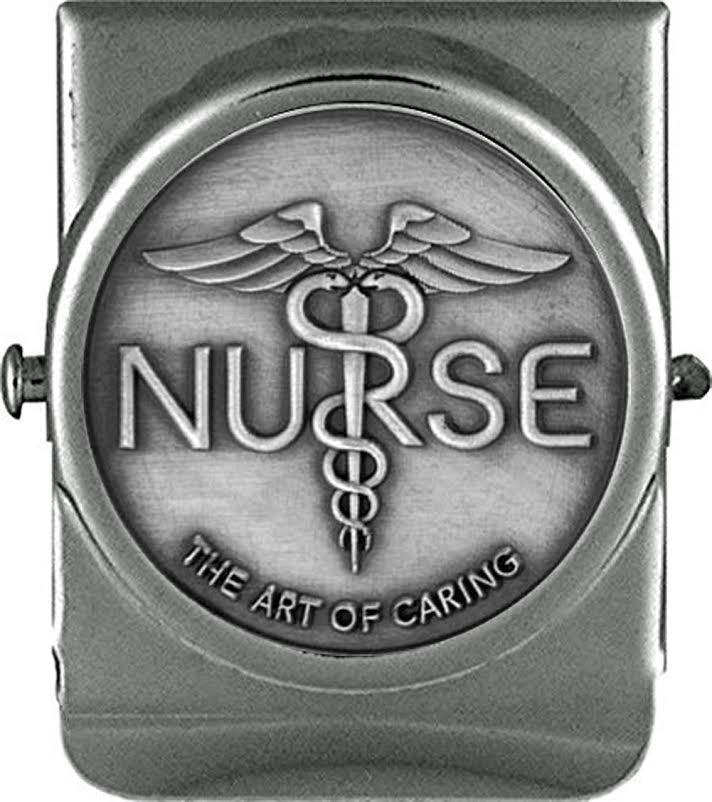 Nurse Art of Caring Premium Chrome Metal Refrigerator Memo Magnet - The Nurse Place - 1