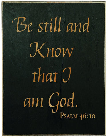 Psalm 46:10 Laser Engraved Wood Christian Plaque