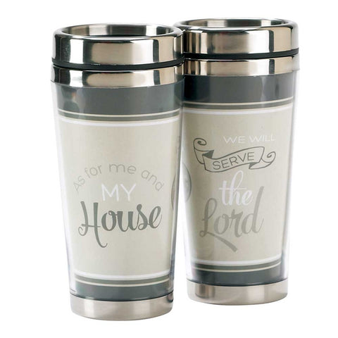 As for Me and My House Joshua 24:15 Travel Mug - Coffee Cup