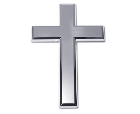 Classic Christian Cross Chrome Auto Emblem