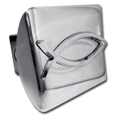 Christian Fish Shiny Chrome Hitch Cover