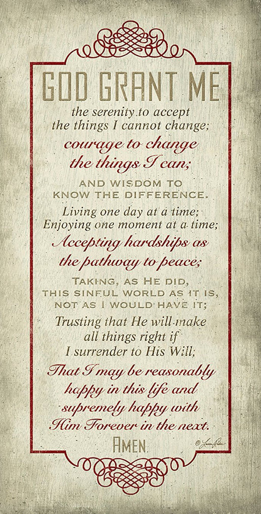 "God Grant Me The Serenity Prayer Inspirational 16""x 8"" Wood Plaque - The Nurse Place"