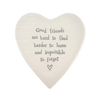 East Of India Good Friends.. Porcelain Coaster