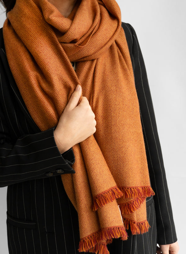 VISVA Shawl - Couragous Copper Orange