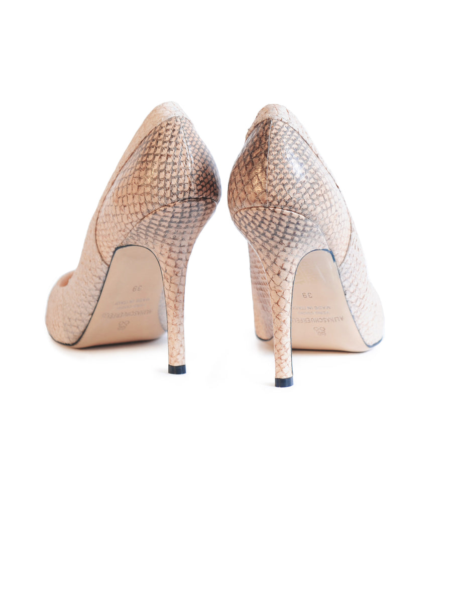 Nude coloured sustainable Pumps by ALINASCHUERFELD
