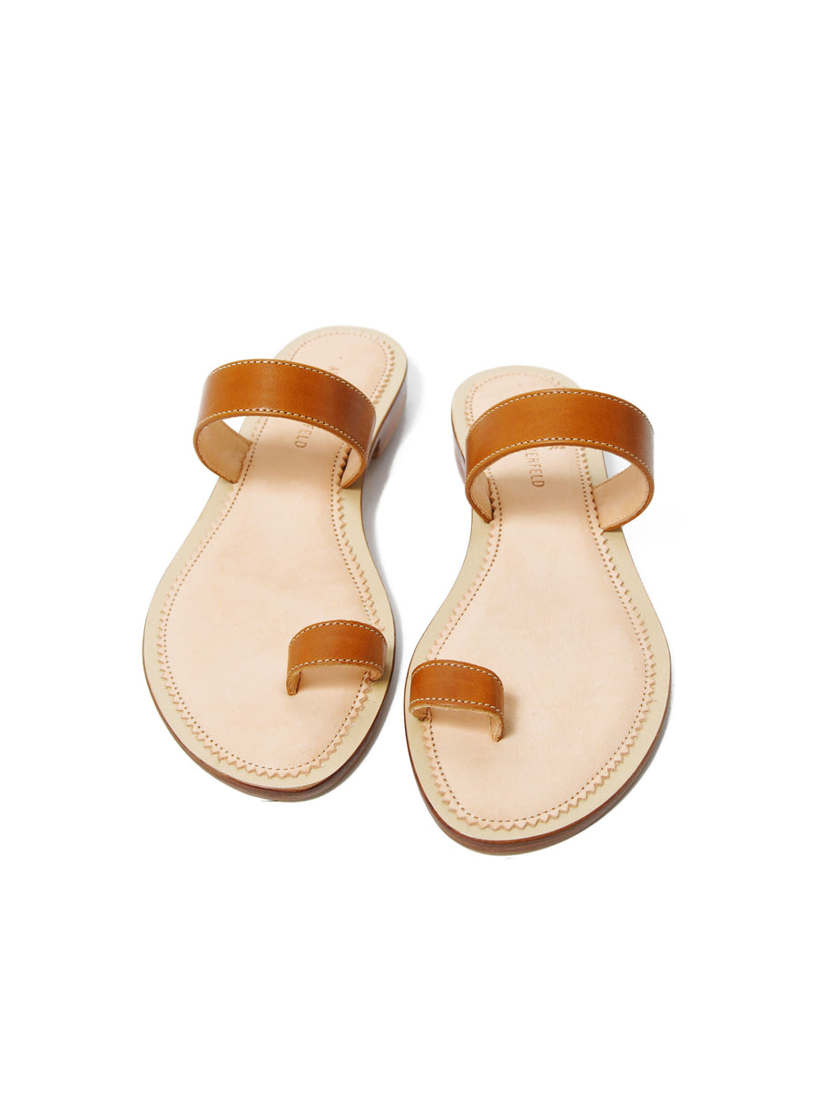Caramel Brown coloured sustainable sandal