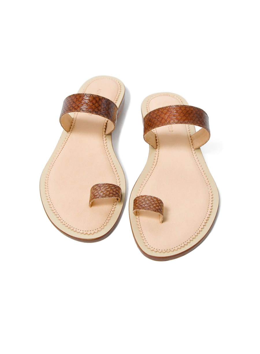 Hazelnut brown coloured sustainable sandal