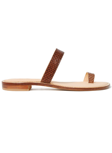 Hazelnut brown coloured sustainable sandal by ALINASCHUERFELD