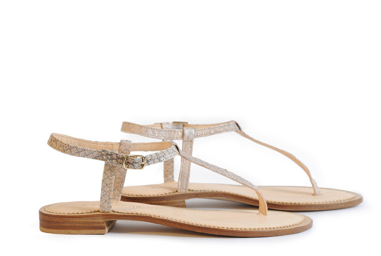 Nude coloured sustainable sandal