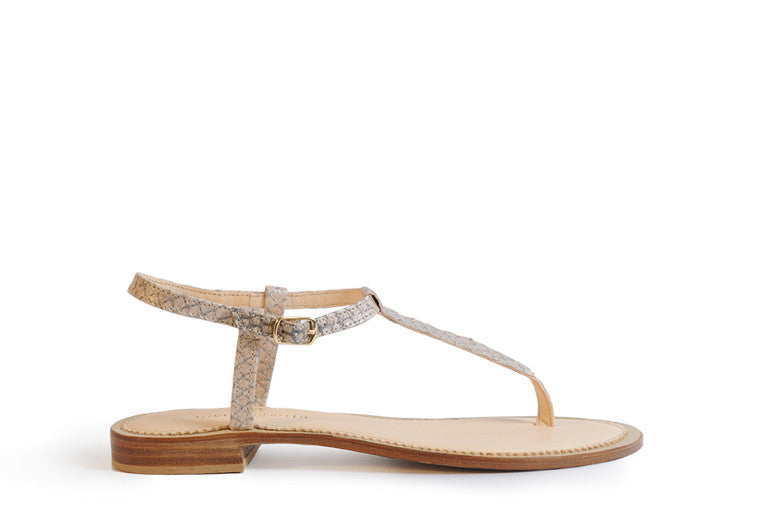 Nude coloured sustainable sandal by ALINASCHUERFELD