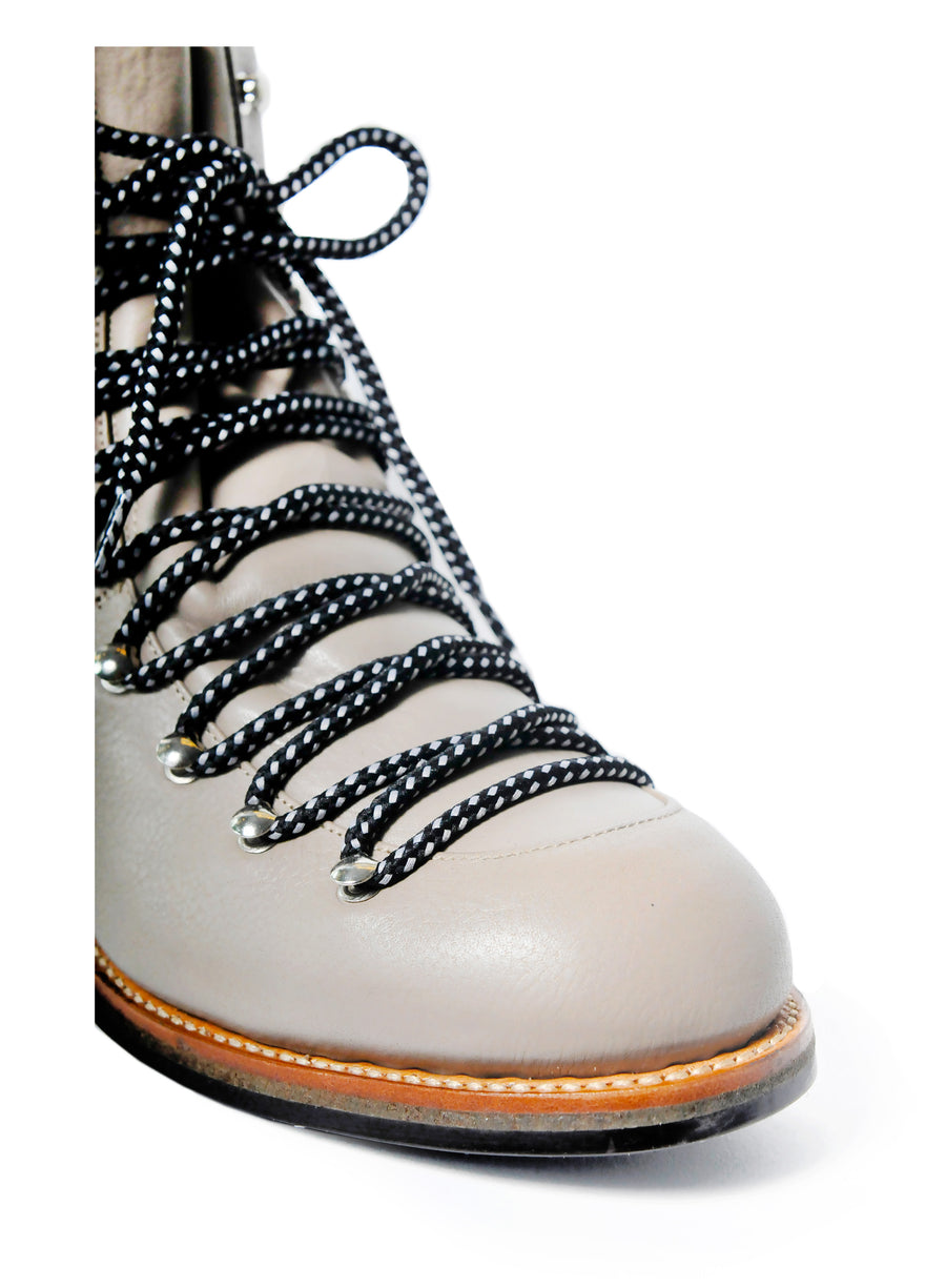 Goodyear welted, grey coloured, sustainable boot by ALINASCHUERFELD