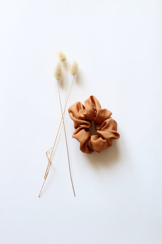 Silk Hair Scrunchie CAMEL