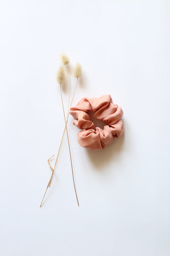 Silk Hair Scrunchie PINK