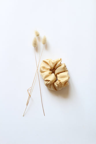 Silk Hair Scrunchie WHEAT