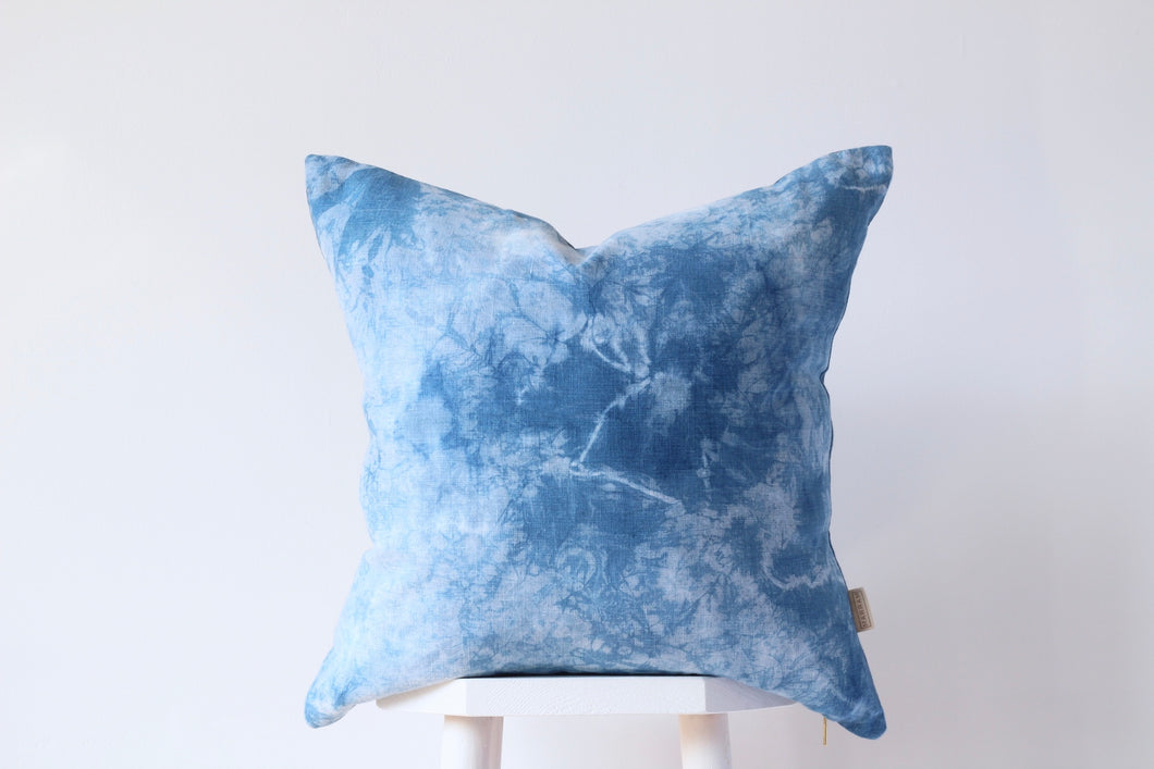 CRACKLE Cushion Cover - INDIGO