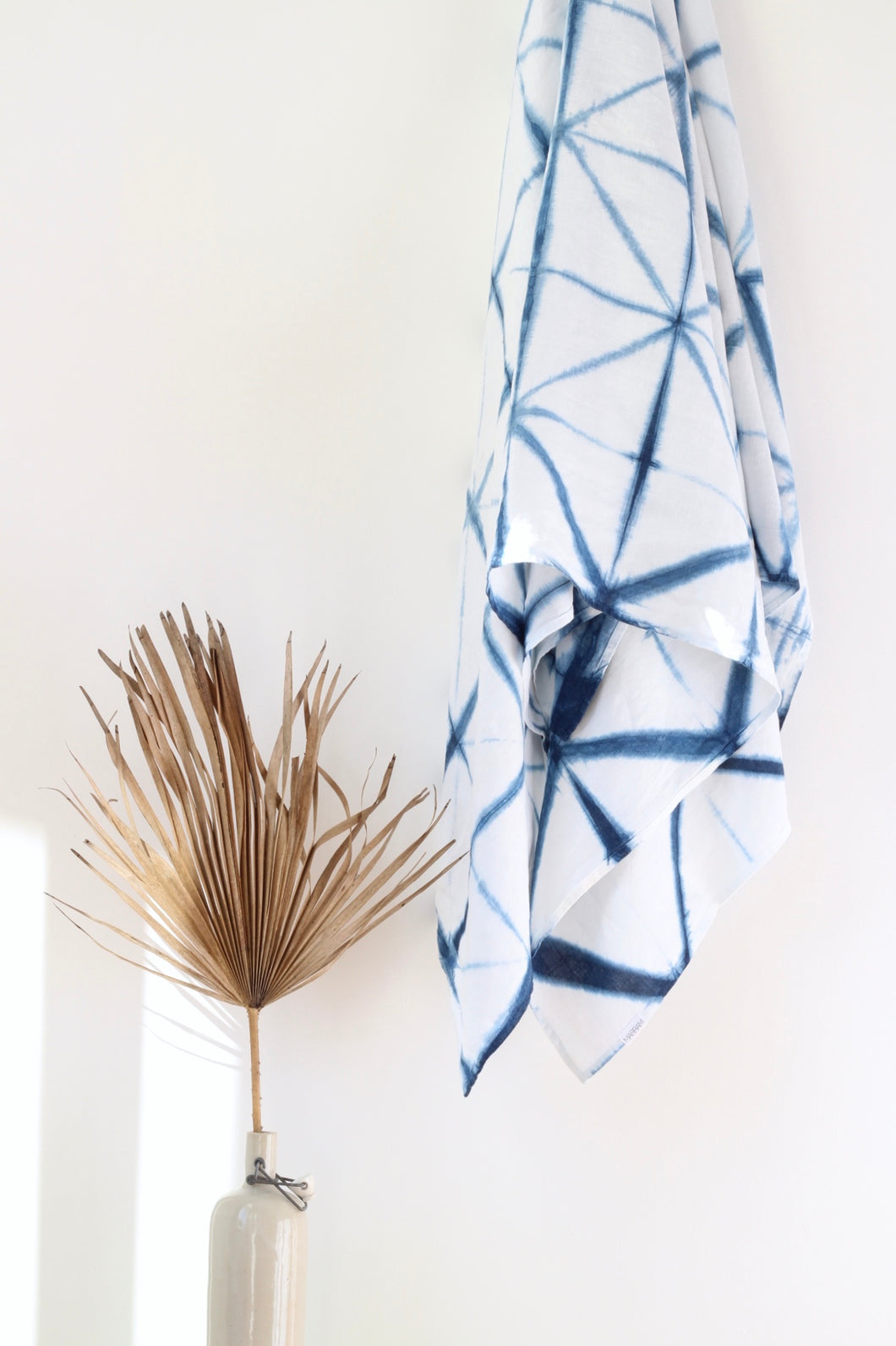 Shibori Indigo Throw - DIAMOND