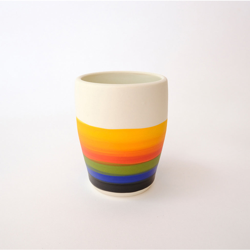 Rainbow Tumbler ceramic by Angela Chvarak Studio