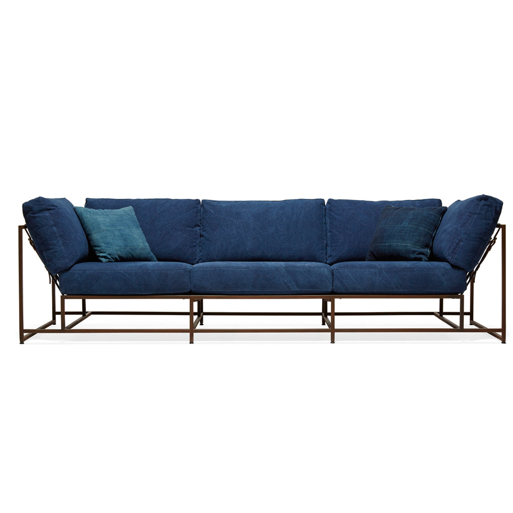 Indigo Inheritance Sofa by Stephen Kenn