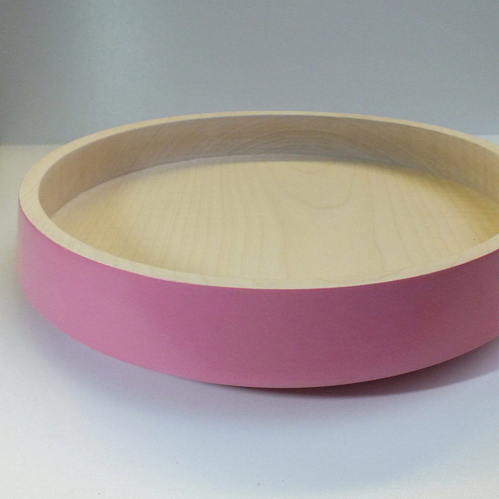 Big Flat Bowl - Powdery Pink