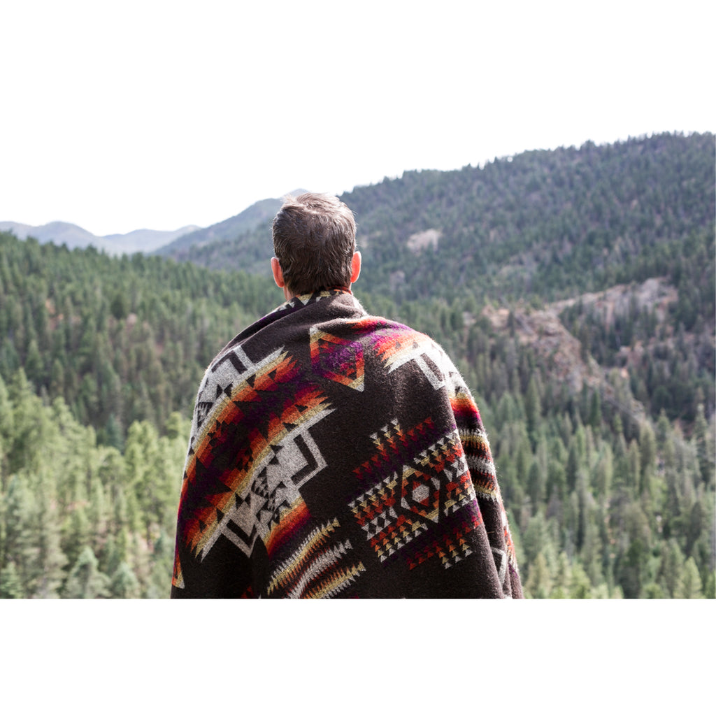 Brown Andes Cruz Blanket
