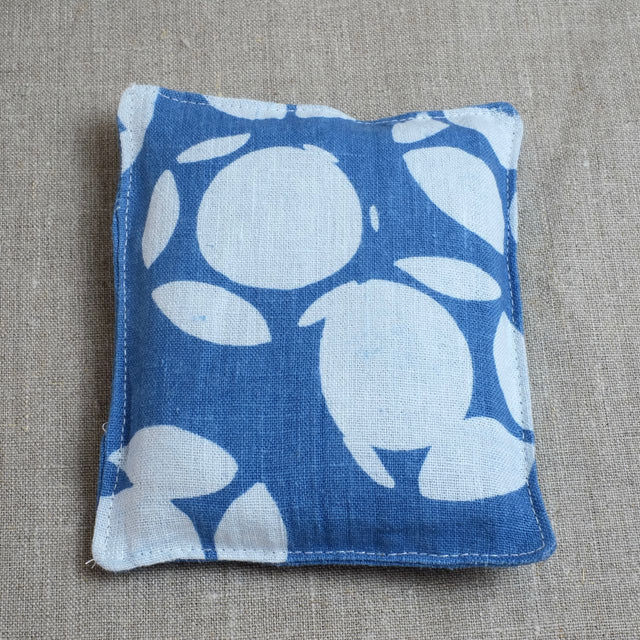 Blue Lavender Pouch with circles